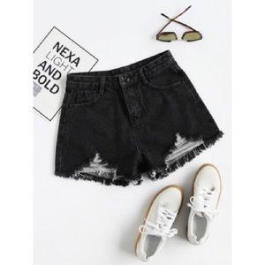 $5 W/ BUNDLE Dark Gray Distressed Shorts